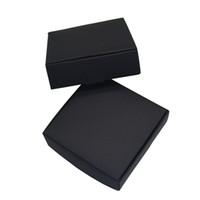 10.4x9.2x3cmブラッククラフト紙パッケージ板紙ボックスカードタグ写真パッケージ段ボールボックスジュエリーギフト収納ボックス小売50ピース/ロット