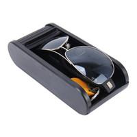 Multifunción deslizante puerta de la caja caja de almacenamiento del tablero de instrumentos del coche Organizador de almacenamiento para las monedas Pequeño Objetos teléfonos móviles