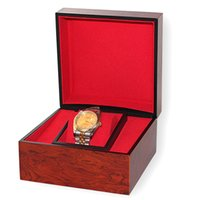 В новой версии Новой деревянных часов Box Подушка Подушки Показать Boxs Глянцевый лак Wood Watch Box нет логотипа