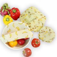 قابلة لإعادة الاستخدام سيليكون التفاف ختم الأغذية الطازجة حفظ التفاف غطاء غطاء تمتد فراغ الغذاء التفاف شمع القماش مطبخ أدوات مل 3pcs / مجموعة