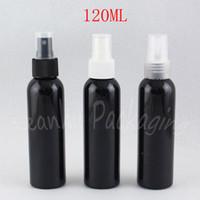 120 мл черный Пластиковые бутылки с распылителем насос, 120cc тонер / подпиточной воды Суб-розлив, Пустой Cosmetic Контейнер (50 PC / Lot)
