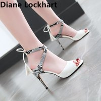 Women Ankle Strap Sandals Gladiator Snake Thin heel Fashion ...