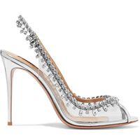 상자 최고 등급 빛나는 관음증 발가락 신발 라인 석 하이힐 웨딩 펌프 드레스 신발 모든 경기 슬립 샌들 zy493
