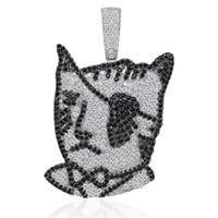 Hip Hop Takı Gümüş LIL UZI Vert Kedi kolye kolye Mikro açacağı Zirkon buzlu Out Hayvan Takı Man Kadınlar Hediye