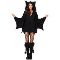 2019 Büyük boy yeni kadın cosplay Avrupa ve Amerikan Cadılar Bayramı kostümleri Cosplay seksi vampir Batman siyah tulum