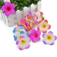 10 stücke 17 farben pe schaum plumeria diy künstliche kranz frangipani ei blütenköpfe für hochzeitsdekor zubehör größe 5-9 cm