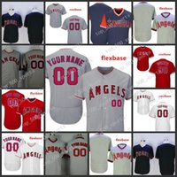 Personnalisé 2019 Anaheim Cousu Jersey Mens 5 Albert Pujols 27 Mike Truite 32 Josh Hamilton Tous les maillots brodés cousus