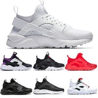 Nike Air Huarache  Corredores baratos Huarache IV 4.0 1.0 Womens Roxo Verde Pure Mens Platinum Running Shoes Black Red White Grey Marca de luxo Grande Sneakers