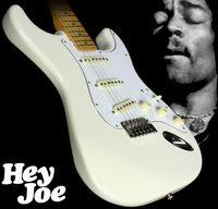 Spedizione gratuita! 70 Jimi Hendrix Reverse Headstock Olympic White St Electric Guitar Guitar Tremolo Bridge Whammy Bar, Piatto per collo inciso speciale