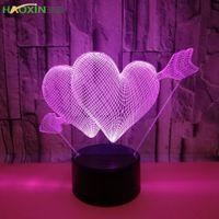 Haoxin RGB Lights Lead Lamp Base для 3D-иллюзийной лампы 3шт аккумуляторная батарея или DC 5V USB 3D ночь огни 4 мм Акриловая панель