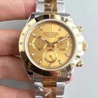 Top di modo di vendita serie di orologi da uomo TONA M116519 semplice faccia oro acciaio inossidabile 316L 2813 macchina automatica orologi shiping libero