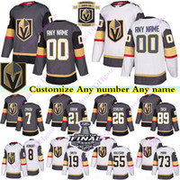Vegas Golden Knights jerseys 29 Fleury 19 Smith 89 Tuch 3 McNabb 58 strong 73 Pirri personalizar qualquer número qualquer nome hockey jersey
