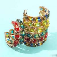 55mm gefror heraus gem C-Band-Ohrringe für Frauen Luxus-Designer-bunte bling Diamant Reifen Kreis huggie Ohrringe Zirkon rot Schmuck Liebe Geschenk