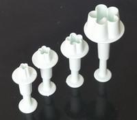 5sets Pflaume Blütenkuchen Dekorieren Cutter Fondant Sugarcraft Werkzeug Paste Handwerk Blume Kuchen Werkzeug Kuchenform