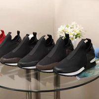 Дизайнер Трикотажной натяжной обуви мода люди платформа вскользь ботинки роскошь женщины Письмо упругого Толстая подошвы Walking чешка Большой Siz 35-45