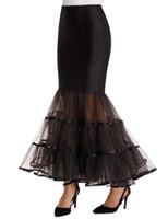 Black White Mermaid Wedding Petticoat Trumpet Gown crinoline underskirt Formal