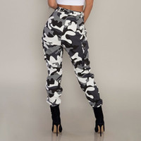 Pantaloni mimetici a vita alta da donna nuovi Pantaloni Pantalon Femme alla moda Plus Size 3XL Pantaloni sportivi Streetwear Pantaloni mimetici Donna