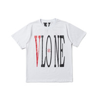 Migliore versione Vlone FRIENDS stampato donna uomo T shirt tees Hiphop Streetwear Blue Friends Vlone cotone manica corta uomo T shirt