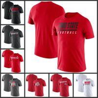 Ohio State Buckeyes línea lateral leyenda Rendimiento camisetas de manga corta impresa O-Cuello T Escuela de Fútbol Los deportes de equipo camisetas