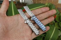Küçük Flipper Katlama Bıçak VG10 Şam Çelik Bıçak TC4 Titanyum Alaşım Kol Rulman EDC Cep Bıçaklar