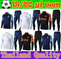 2020 Olympique de Marseille tracksuit soccer training suit M...