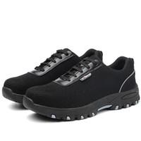 Горячая распродажа-ZYYZYM мужские рабочие ботинки безопасности плюс размер 36-46 унисекс неразрушимый стальной носок защищает прокол доказательство защитная защитная обувь мужчины