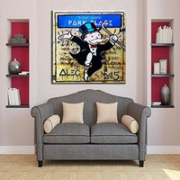 Alec Monopoly Banksy Hand Painted Abstract Oil Painting On C...