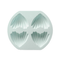 4 Holes Heart Shaped Mold Silica Gel Non- stick Mould Tray DI...