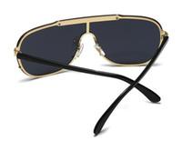 All'ingrosso-VE2140 lusso medusa occhiali da sole in metallo di grandi dimensioni cornice quadrata mand progettista occhiali placcato oro materiale anti-UV400 occhiali lenti