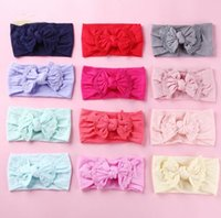 Elastic Nylon Kids Baby Butterfly Headband Hair Band Accessories High Quality Multi Styles Available for Your Choice