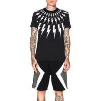 Mode-Männer Stylist-T-Shirt Sommer-neue Ankunfts-Geometrie Druck-Kurzschluss Hülsen-Schwarz-Weiß-Männer Qualitäts-Baumwolle T-Shirts Größe S-2XL