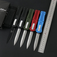 Chaud! Benchmade Infidèle double action couteaux automatique couteau D2 acier EDC Pocket A017 A019 engins tactiques de survie avec gaine BM810 15080 940