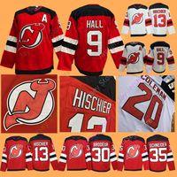 939734ca1 2019 New Jersey Devils Jerseys 9 Taylor Hall 13 Nico Hischier 30 Martin  Brodeur 35 Cory Schneider Men Women Youth Kid All Stitched