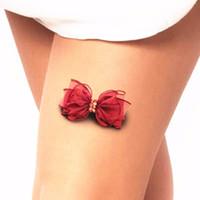 Schönheit 3D Bowknot temporäre Tätowierung-Körper-Kunst-Flash Tattoo-Aufkleber wasserdichter Henna Tatoo Selfie Gefälschte Tatto Wandaufkleber
