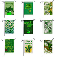 Bahçe Bayrakları Aziz patrick Günü Dekoratif Afiş Barlap Yard Asılı Bayrak Festivali Bahçe Süslemeleri 10 Tasarımlar Opsiyonel 32x47 CM CYW2334