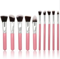 10PCs Makeup Brushes Set Wooden Make Up Brush for Face Eyebr...