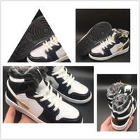 Sıcak Satış 1 S Çocuk Basketbol Ayakkabıları En Kaliteli Erkek Kız Çocuk Kış Kuman Ekle Pamuk Çocuk Ayakkabı Siyah Ve Beyaz Spor Koşu Ayakkabıları 28-35