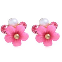 New Flower Earring Stud per ragazze Fashional Flower Ear Stud Gioielli Corea Style Personalità Crystal Ear Ring Creative Charm Ear Stud