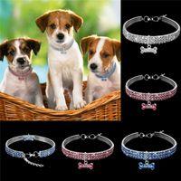 Hundehals Jeweled Bling Strass Hundehalsbänder Crystal Diamond Pet Collar Größe S / M / L Heimtierbedarf