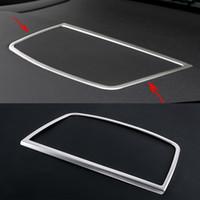 Araba-Styling Merkezi Kontrol Konsolu Gösterge Tablosu Hoparlör Kapak Trim Çerçeve BMW X5 X6 F15 F16 E70 E71 Oto Aksesuarları