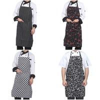 Регулируемое поясные для взрослых Фартук Полосатого Hotel Restaurant Chef официант Фартук кухня Кук Фартук с 2 карманами