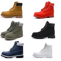 Contraste cheville de base Hommes Collier Botte imperméable Boot Hommes Femmes Bottes d'extérieur en cuir 6 couleurs EUR 36-46