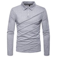 Mens Casual Long Sleeve Polos Shirt Dress Classic Business P...