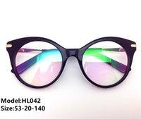 أعلى جودة العلامة التجارية النظارات البصرية إطارات الرجال أزياء بلونات النساء خمر النظارات مصمم خلات نظارات إطار نظارات HL042 غلاس DJKM