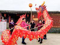 Dimensione classica 5 # 7m Seta cinese Dragon Dance 6 Bambini Bambini Bambini Costume da mascotte Pulogia Cultura speciale Festa festa Capodanno Capodanno