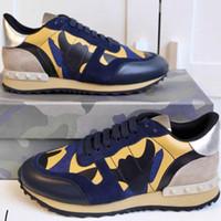 Mens Rockrunner Camuflaje Zapatos de la zapatilla de cuero real ejecutan Mes Combo Roca corredores de las zapatillas de deporte de los zapatos deportivos Hombres Mujeres de goma con la caja