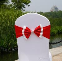 Paillette Свадьба Председатель Обложка Пояс Эластичного спандекс стул диапазон лук с пряжкой для свадьбы партия События Аксессуары DHL R5d