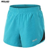ARSUXEO Women' s Running Shorts 2 In 1 Quick Dry Sports ...