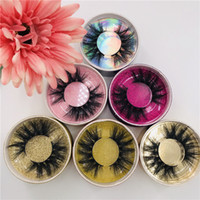 3D Mink Wimpern Cruelty Free mit runden Funkeln Box 100% handgemachtes reales Nerz 15mm 18mm Accept Private Label