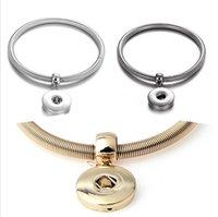 Gioielli Noosa Snap Bracciale rotonda elastico Ginger Snap pulsanti braccialetto di fascino adattano 18 millimetri fai da te Snaps Classic